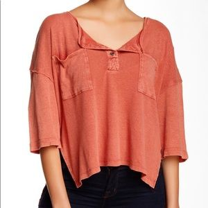 WE THE FREE PEOPLE STARDUST Henley In Summer Red
